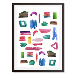 Watercolour Abstract Shapes Wall Art Print - Mode Prints