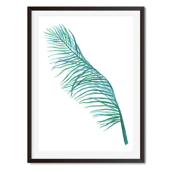 Watercolour Botanical Leaf Wall Art Print - Mode Prints