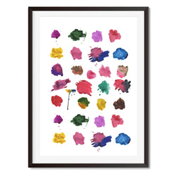 Watercolour Brush Strokes Wall Art Print - Mode Prints