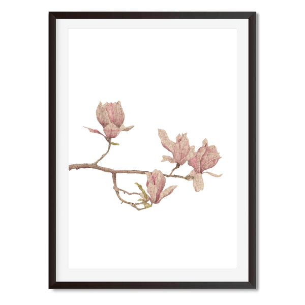 Watercolour Flourish Wall Art Print
