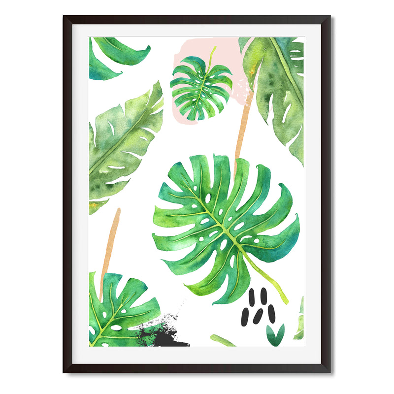 Watercolour Abstract Leaves Wall Art Print - Mode Prints
