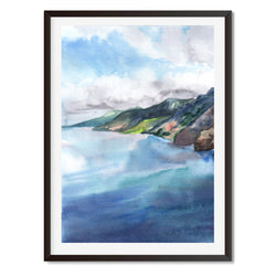 Watercolour Rocky Rivers 2 Wall Art Print