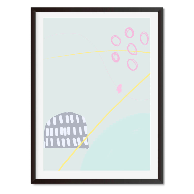 Abstract Illustration Wall Art Print - Mode Prints