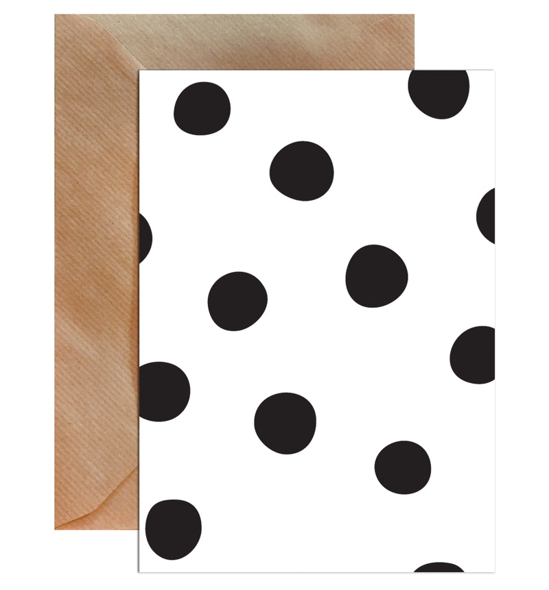 Polka Dot Blank Greeting Card - Mode Prints