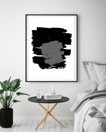 Black & White Abstract Poster Print-Print-Mode Prints