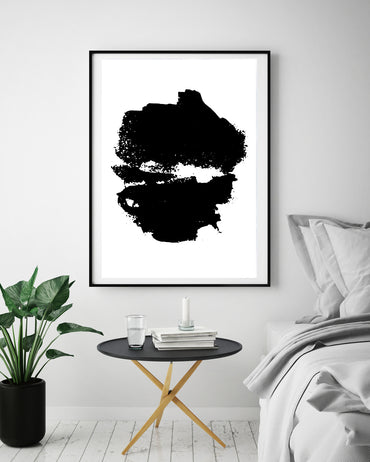 Black & White Abstract Graffiti Poster Print-Print-Mode Prints