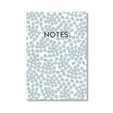 Blue Flower Print Notebook