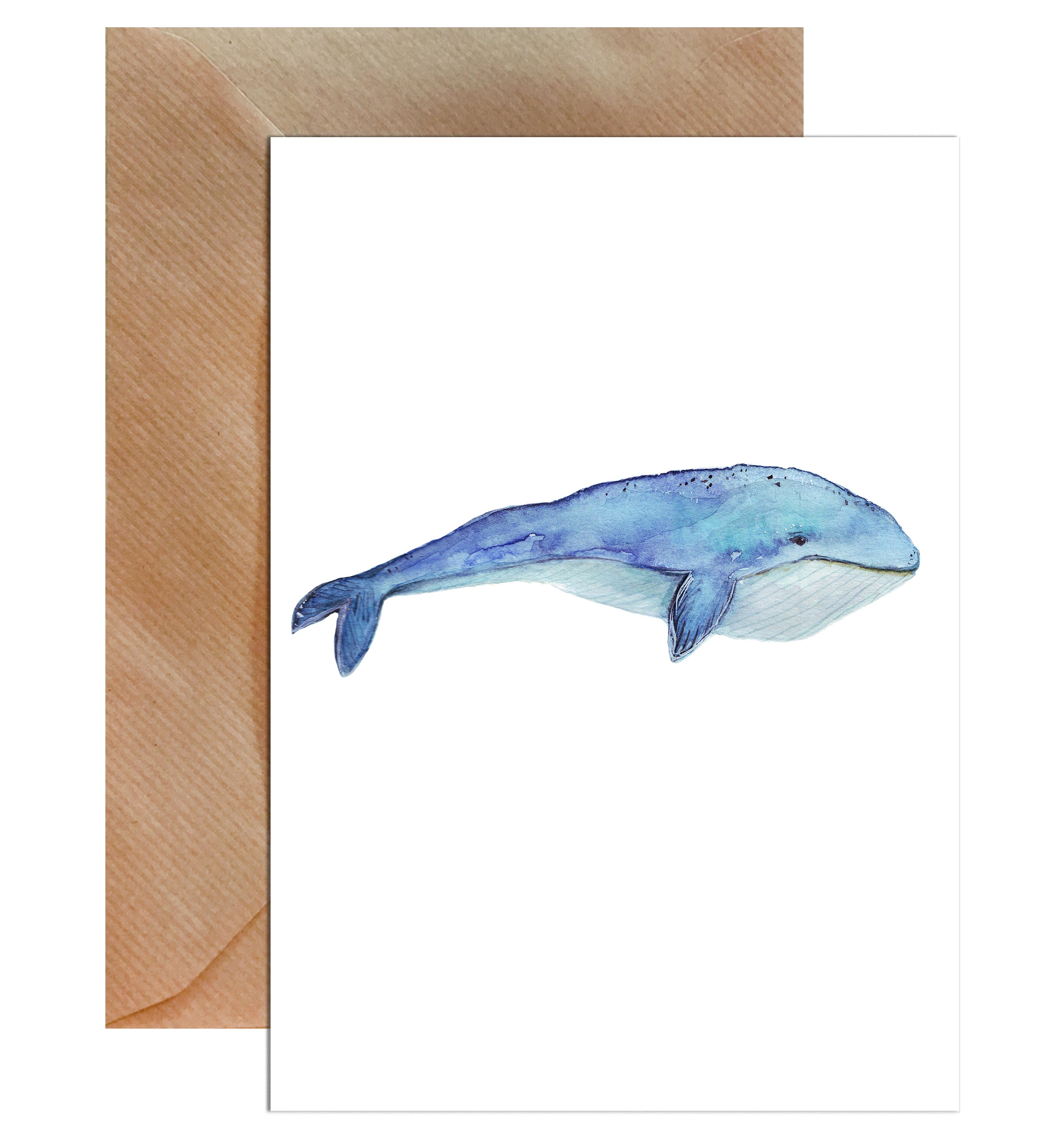 Blue Whale Greeting Card-Greeting Cards-Mode Prints