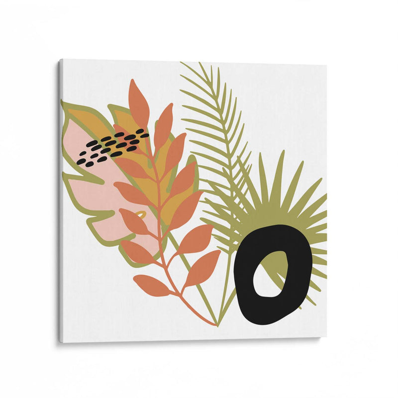 Botanical Abstract Illustration Canvas Art Print