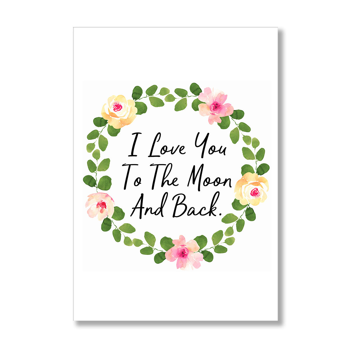 I Love You To The Moon And Back Poster Print-Print-Mode Prints