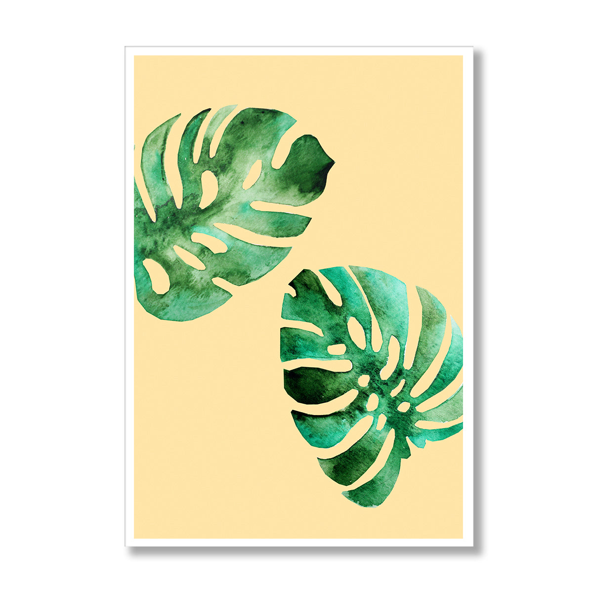 Monstera Leaves Poster Print-Print-Mode Prints