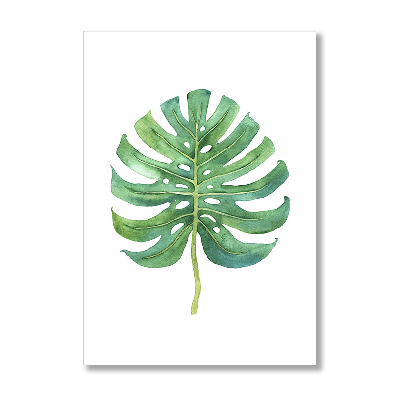 Watercolour Monstera Leaf Wall Art Print