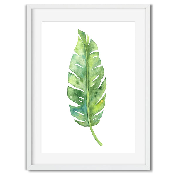 Watercolour Leaf Wall Art Print