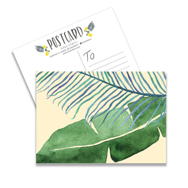 Botanical Leaves Set Of 10 Postcards-Notepaper Sets-Mode Prints