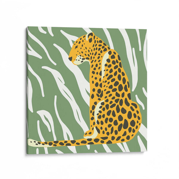 Leopard Green Canvas Art Print