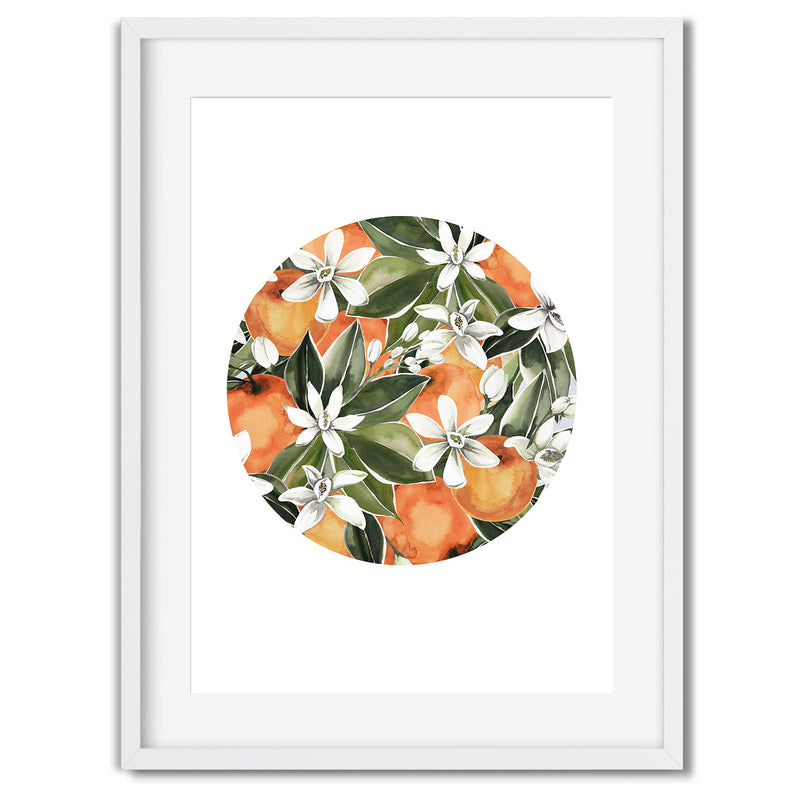 Botanical Orange Tree Wall Art Print - Mode Prints