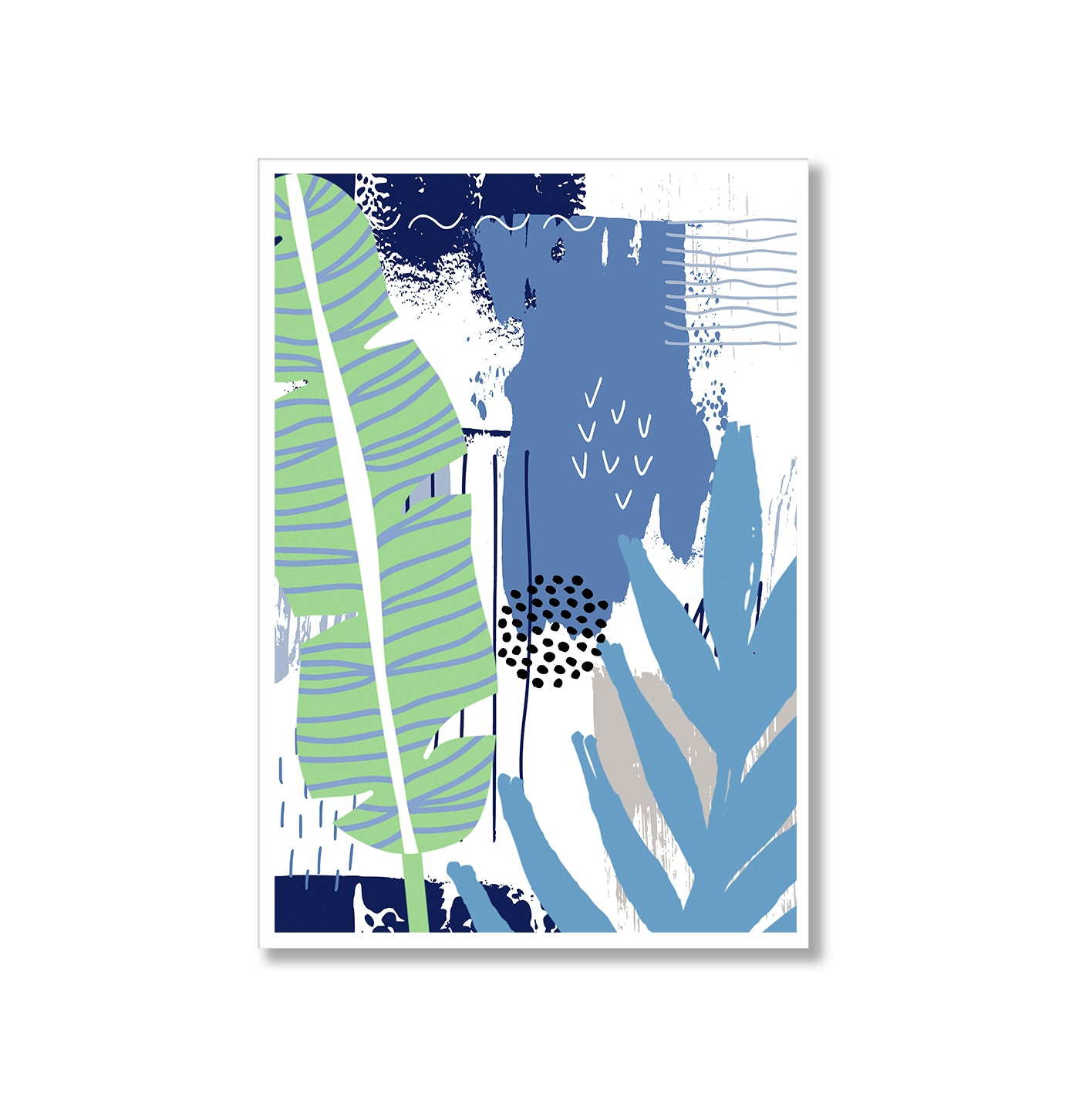 Botanical Pop 2 Abstract Poster Print-Print-Mode Prints