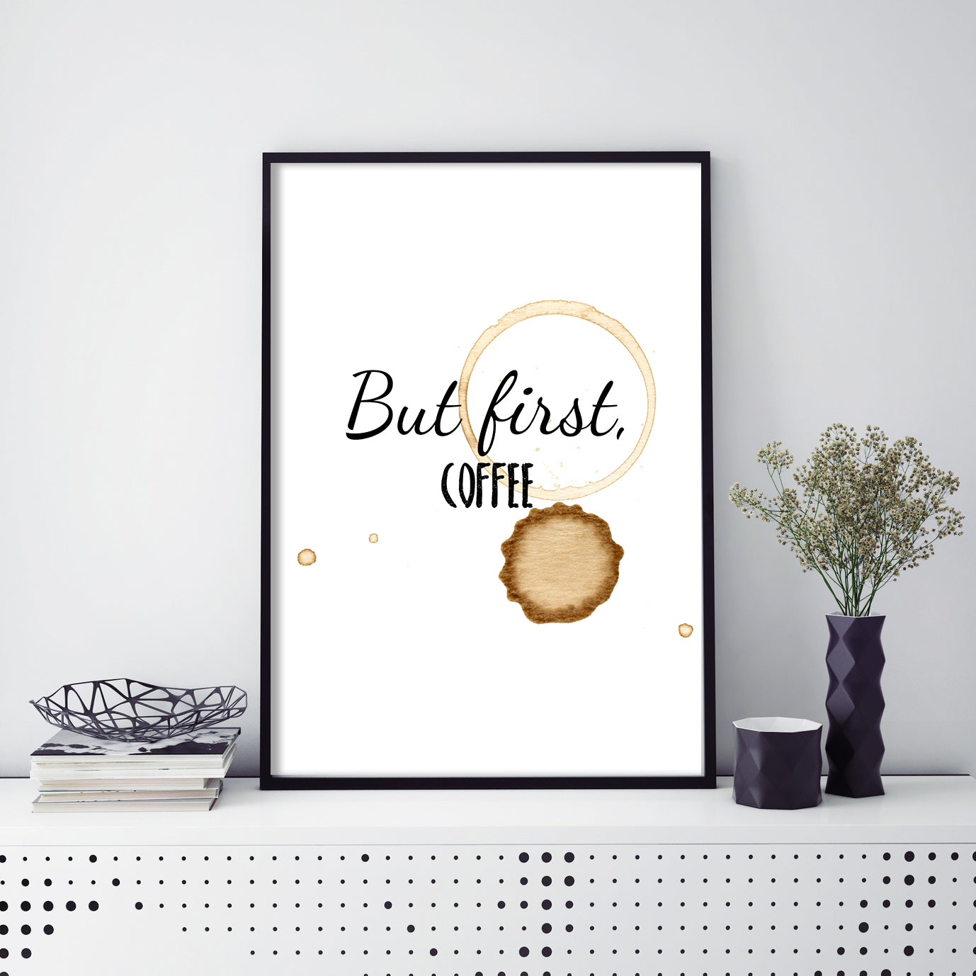 But First, Coffee Poster Print-Print-Mode Prints