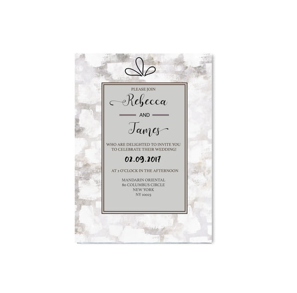 Iced Grey Wedding Invitation - Mode Prints