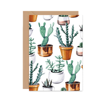 Cactus House Plant Greeting Card-Greeting Cards-Mode Prints