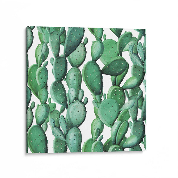Cactus Watercolour Pattern Canvas Art Print