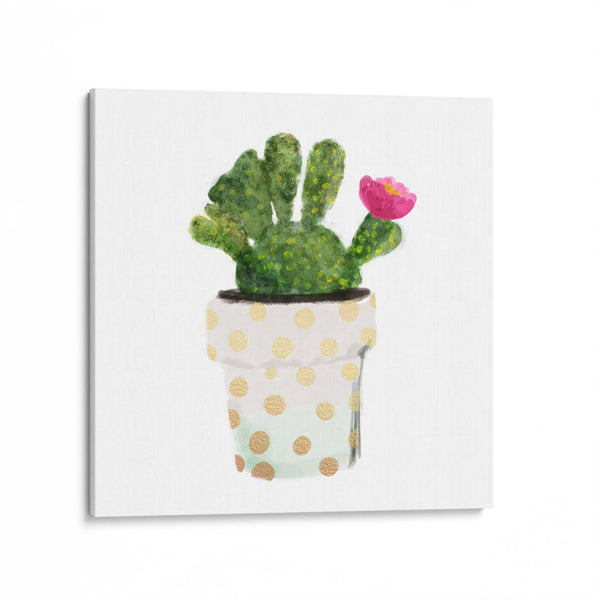 Cacti Potted Plant Canvas Art Print