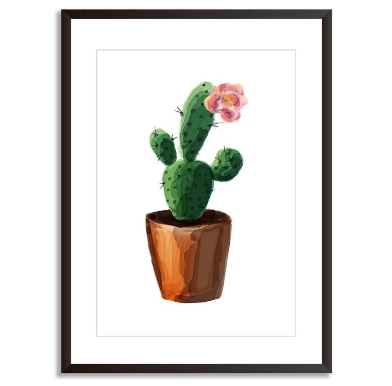 Watercolour Cactus Art Print - Mode Prints