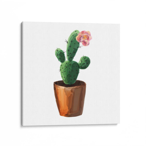 Watercolour Cactus Canvas Art Print