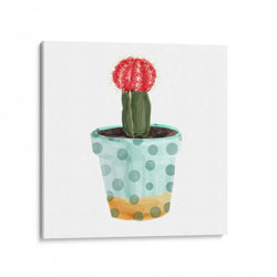 Potted Cacti Plant Canvas Art Print