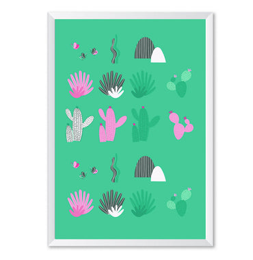 Cactus Leaves Botanical Poster Print