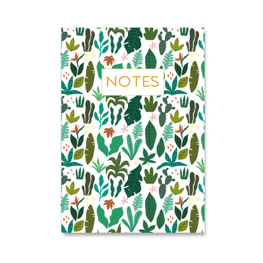 Botanical Leaf Pattern Notebook