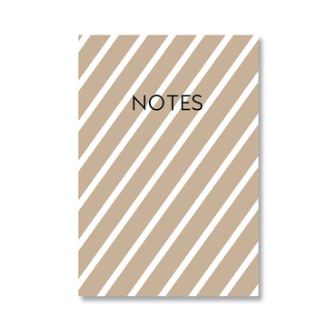 Chocolate Brown Stripes Notebook