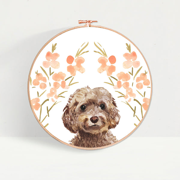 Brown Cockapoo Dog Hoop