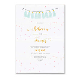 Confetti and Flowers Wedding Invitation-Wedding Stationary-Mode Prints