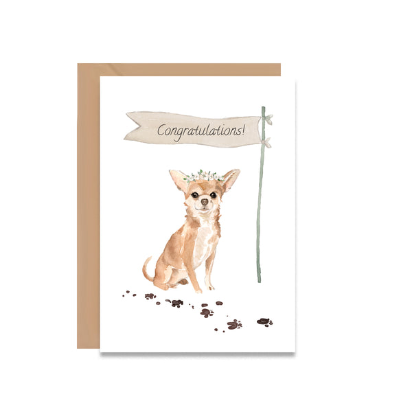 Congratulations Chihuahua Wedding Greeting Card - Mode Prints