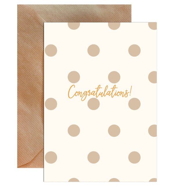Congratulations Gold Wedding Greeting Card - Mode Prints