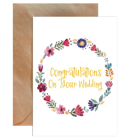 Congratulations On Your Wedding Greeting Card-Greeting Cards-Mode Prints