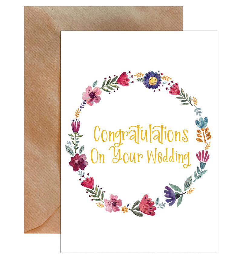 Congratulations on your wedding greeting card mode prints m4hsunfo