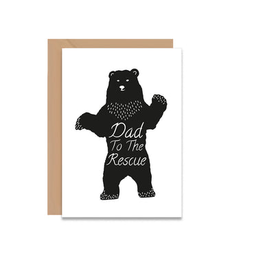 Dad To The Rescue Father's Day Greeting Card-Greeting Cards-Mode Prints
