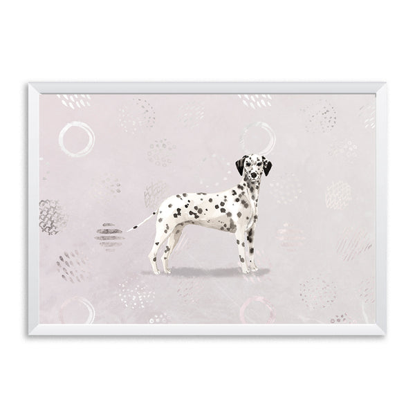 Dalmatian Watercolour Patterned Dog Print - Mode Prints