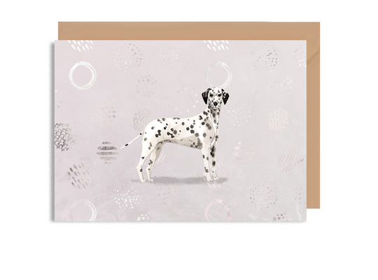 Dalmatian Blank Greeting Card-Greeting Cards-Mode Prints