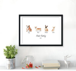 Personalised Dog Family Print-Print-Mode Prints