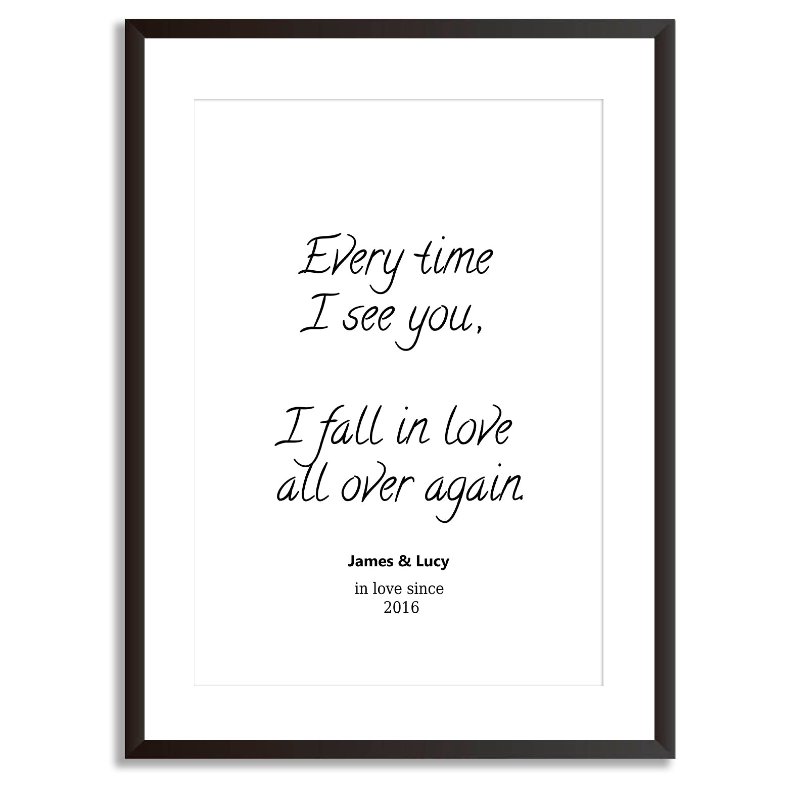 Personalised Every Time I See You Love Poster Print