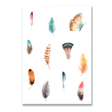 Butterfly Floral Poster Print-Print-Mode Prints