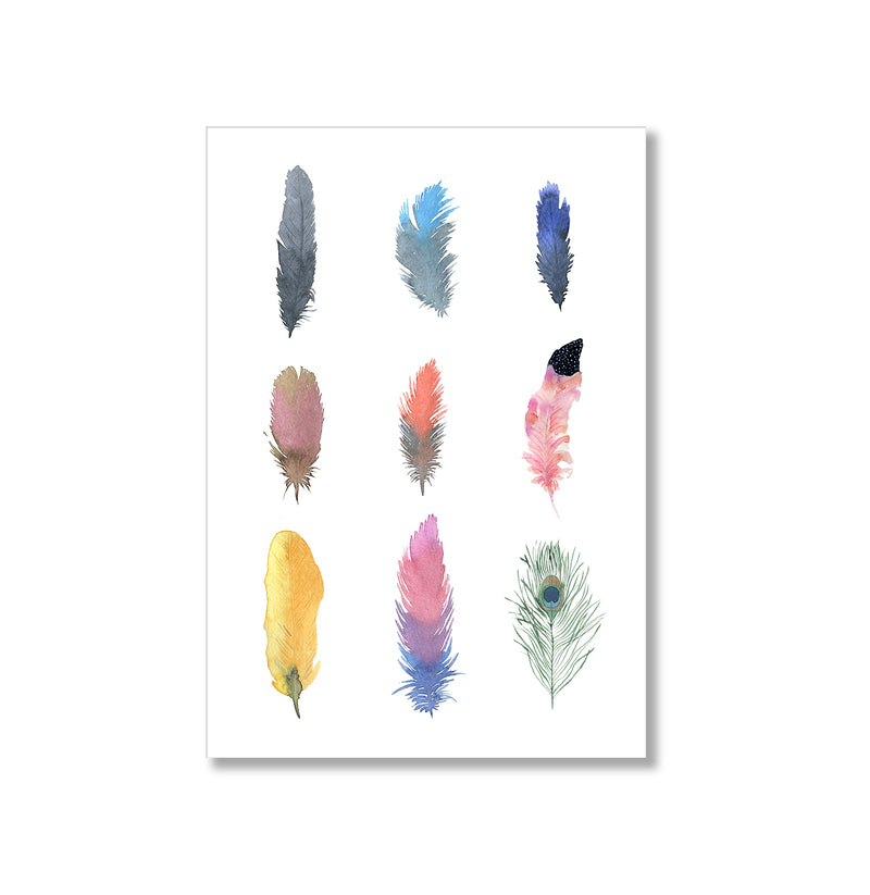 Feathers Wall Art Print - Mode Prints