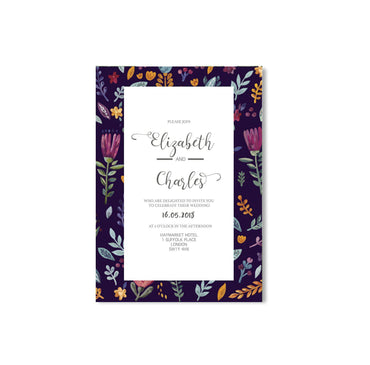 Floral Border Wedding Invitation-Wedding Stationary-Mode Prints
