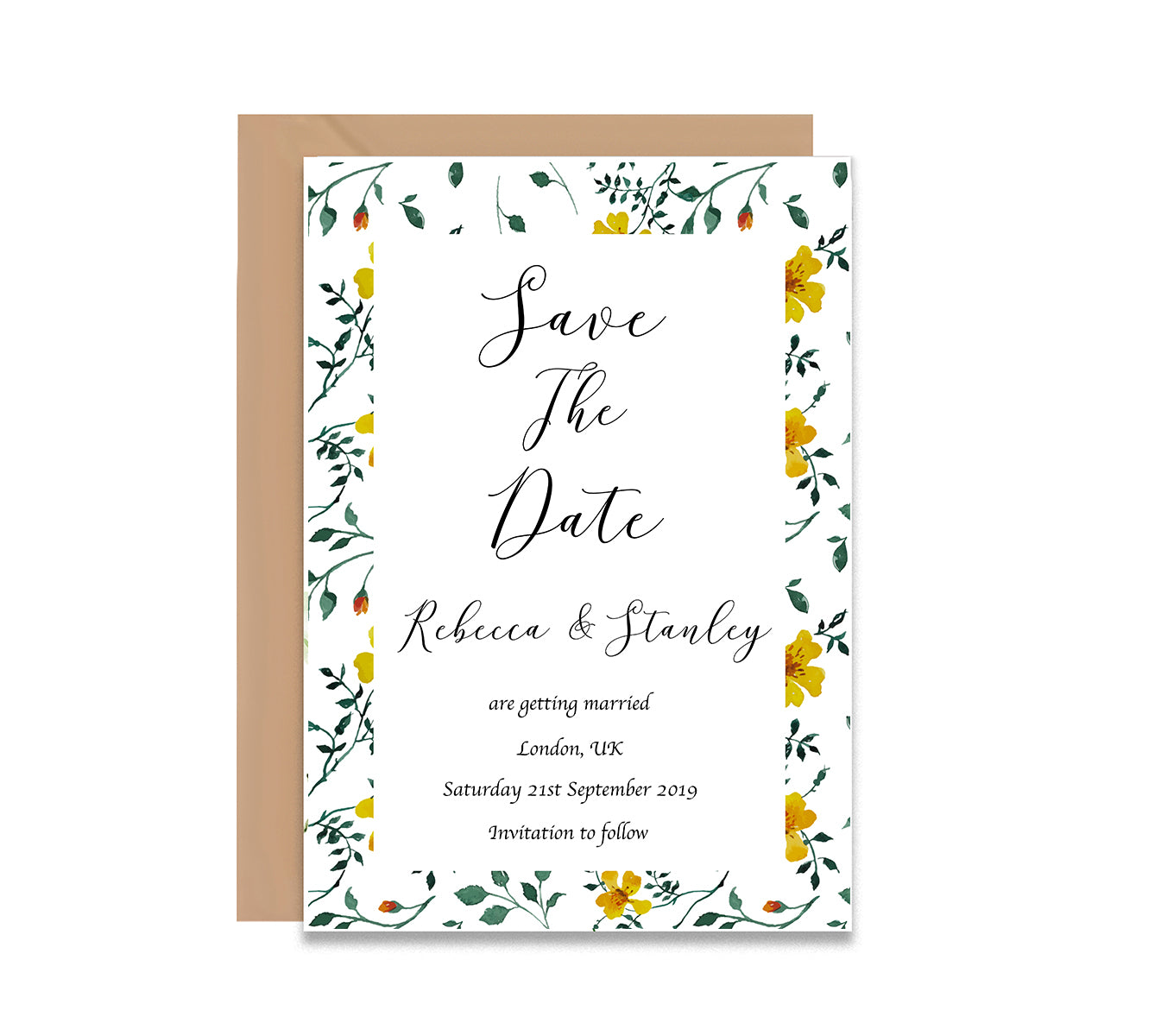 Flower Gardens Save The Date Wedding Card-Wedding Stationary-Mode Prints