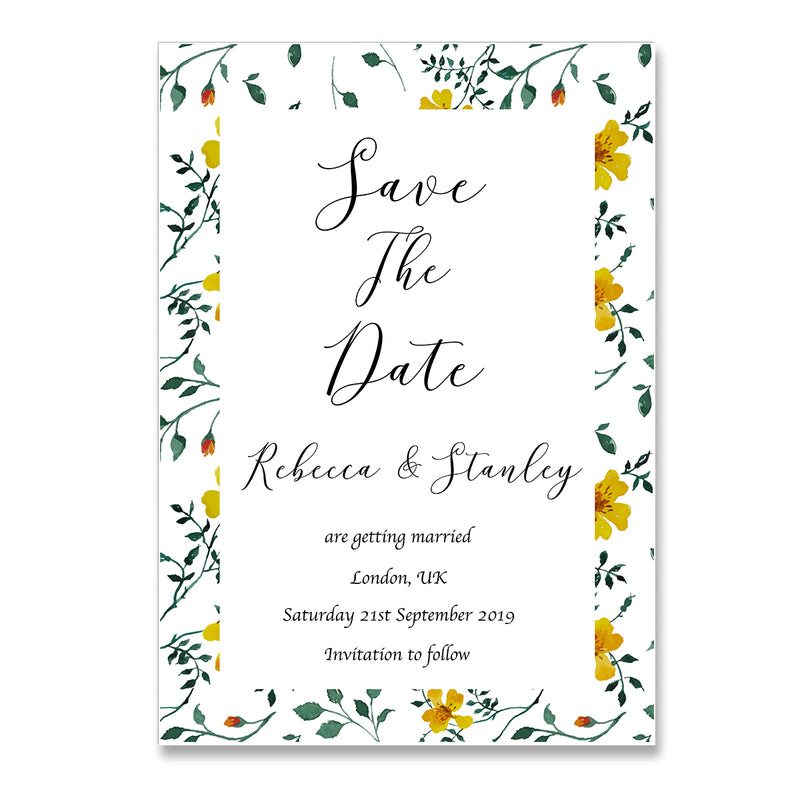 Flower Gardens Save The Date Wedding Card - Mode Prints