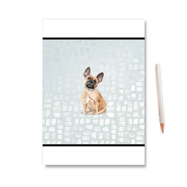 French Bulldog Watercolour Dot Notebook
