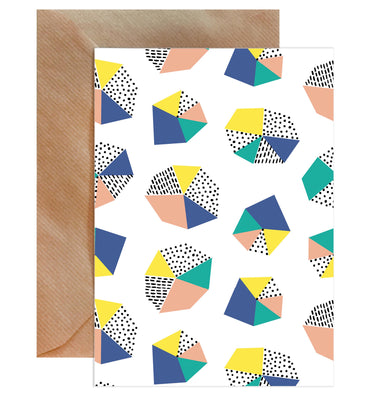 Abstract Shape Print Blank Greeting Card-Greeting Cards-Mode Prints